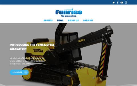 Screenshot of Press Page funrise.com - Blog - Funrise - captured Oct. 24, 2018
