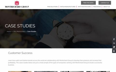 Screenshot of Case Studies Page montrichardwatch.com - Case Studies | Montrichard Group - captured Sept. 26, 2018