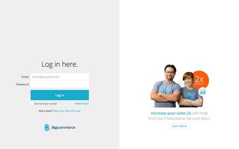 Screenshot of Login Page bigcommerce.com - Bigcommerce Login - captured Sept. 13, 2014