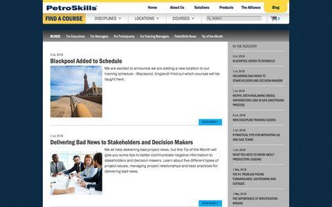 Screenshot of Blog petroskills.com captured July 17, 2018