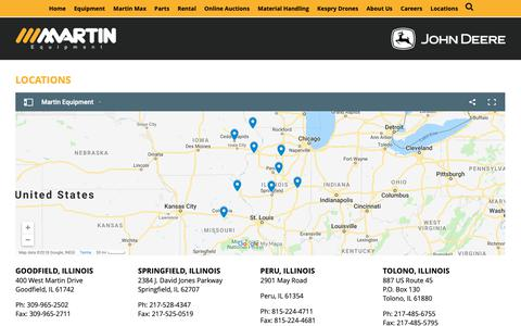 Screenshot of Locations Page meoi.com - Locations » Martin Equipment - captured Oct. 1, 2018