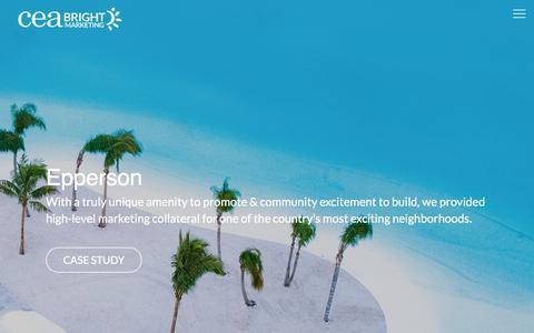 Screenshot of Case Studies Page ceamarketing.com - CEA Marketing – Advertising for Home Builders & Real Estate - captured Sept. 25, 2018