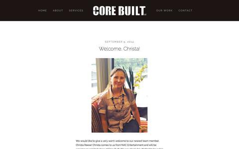 Screenshot of Blog corebuiltus.com - BLOG — Core Built LLC - captured Oct. 27, 2014