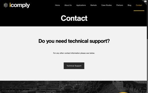 Screenshot of Contact Page i-comply.co.uk - Contact Us | Control Room Software | icomplyicomply - captured Nov. 26, 2016