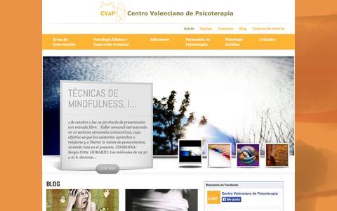 Screenshot of Home Page cvap.es - CVAP Centro Valenciano de Psicoterapia | Centro Valenciano de Psicoterapia - captured Oct. 2, 2014