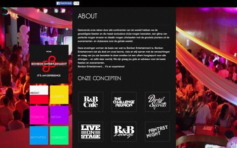 Screenshot of About Page bonbonentertainment.nl - About - BonBon Entertainment | BonBon Entertainment - captured April 18, 2016