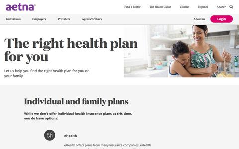 The Right Health Plan for You | How to Buy an Individual Insurance Plan | Aetna