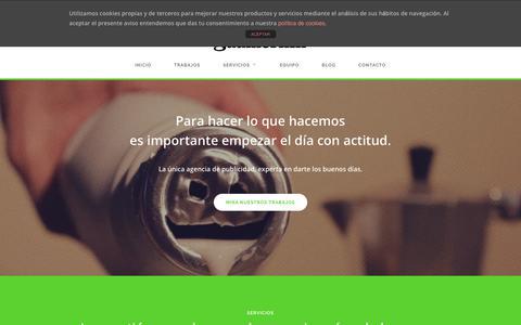 Screenshot of Home Page gudmornin.es - Gudmornin. Agencia de publicidad creativa en Jaén - captured Feb. 18, 2018