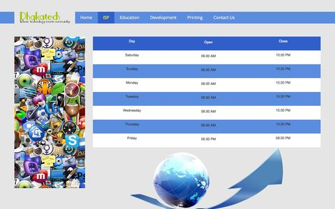 Screenshot of Hours Page dhakatech.com - Dhakatech - Hours - captured Oct. 9, 2014