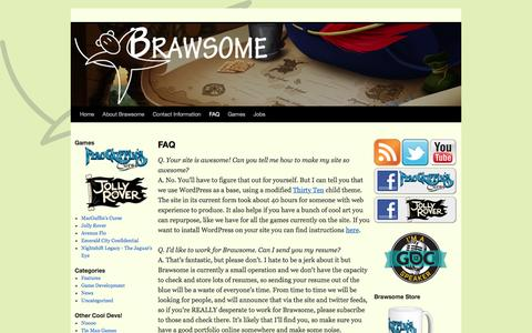 Screenshot of FAQ Page brawsome.com.au - FAQ	| Brawsome! | Brawsome! - captured Jan. 7, 2016