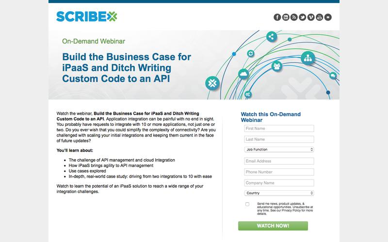 Build the Business Case for iPaaS and Ditch Writing Custom Code to an API On-Demand Webinar