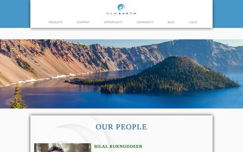 Screenshot of Team Page newearth.com - Our People | New Earth - Life Starts Here. Living Begins Now. - captured Sept. 24, 2018