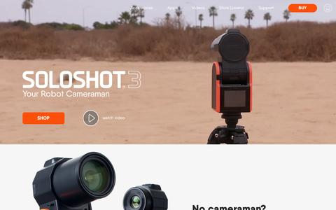 Screenshot of Home Page soloshot.com - SOLOSHOT® Robot Cameraman‎ - captured May 15, 2018