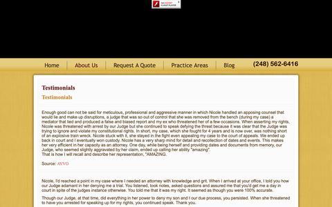 Screenshot of Testimonials Page childersshkreli.com - Testimonials - captured Sept. 25, 2018