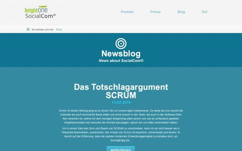 Screenshot of Blog socialcom.de - News Socialcom | Blog Social Media | Updates Social Media Software | SocialCom® - captured Sept. 17, 2014