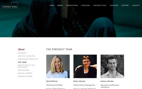 Screenshot of Team Page pinchgutopera.com.au - The Team — PINCHGUT OPERA - captured Feb. 15, 2019