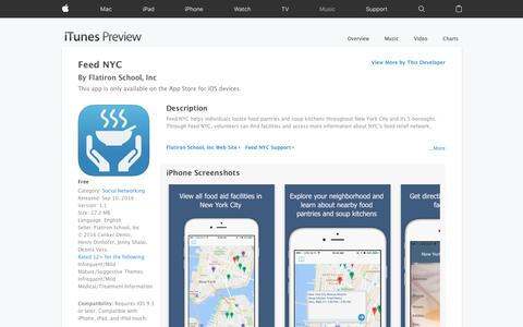 Feed NYC on the App Store