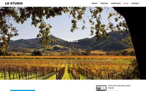 Screenshot of Blog lostudioinc.com - Blog – LO STUDIO - captured Nov. 11, 2016