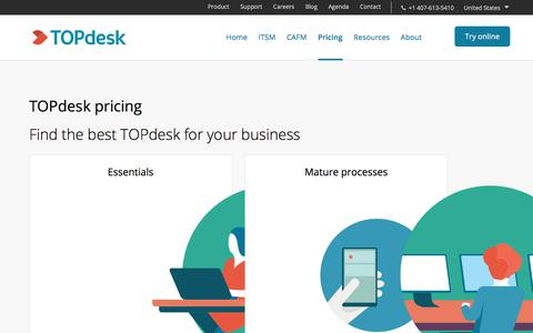 Screenshot of Pricing Page topdesk.com - Pricing | TOPdesk software and consultancy - captured June 20, 2018
