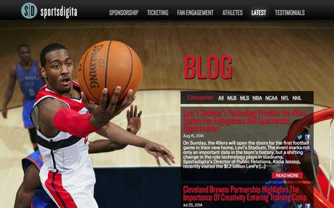 Screenshot of Blog sportsdigita.com - Latest | Sportsdigita | Interactive Sports Agency - captured Sept. 30, 2014