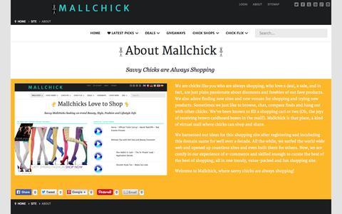 Screenshot of About Page mallchick.com - About Mallchick - Womens Fashion Beauty Style - captured Oct. 29, 2014