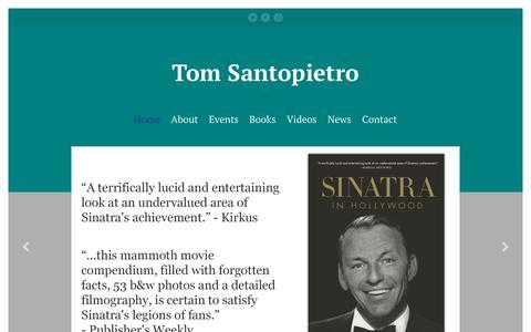 Screenshot of Home Page tomsantopietro.com - Tom Santopietro – The official homepage for the author Tom Santopietro - captured Oct. 25, 2018