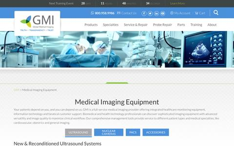 Screenshot of Products Page gmi3.com - New & Used Medical Imaging Equipment - captured Nov. 8, 2016