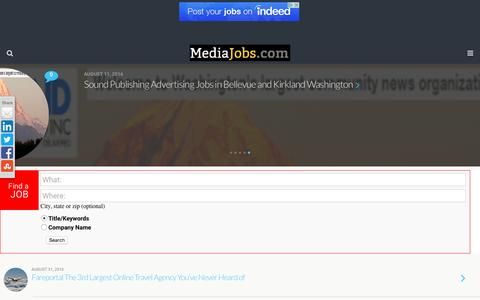 Media Jobs - Media Jobs in Advertising, Social Media, Ecommerce, Marketing and more