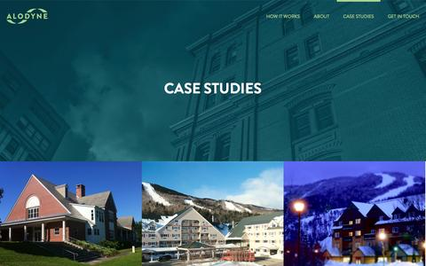 Screenshot of Case Studies Page alodyne.com - Case Studies Archive - Alodyne - captured Nov. 2, 2014