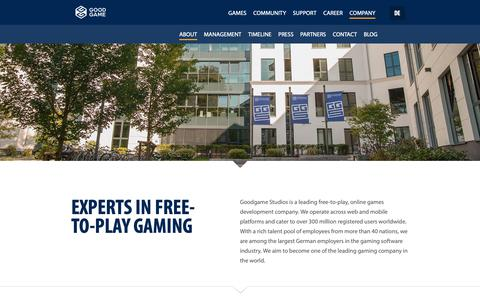 Screenshot of About Page goodgamestudios.com - About Goodgame Studios - captured Oct. 26, 2018