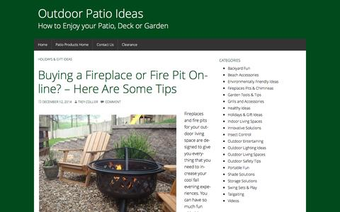 Screenshot of Blog backyardcity.com - - Outdoor Patio Ideas - captured Jan. 17, 2016