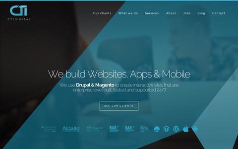Screenshot of Home Page ctidigital.com - CTI Digital - Web Development & Digital Marketing Agency - captured Sept. 13, 2015