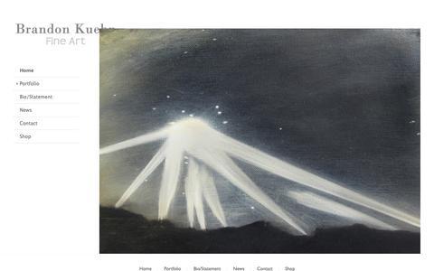 Screenshot of Home Page brandonkuehn.com - Brandon Kuehn Fine Art - captured Oct. 22, 2018