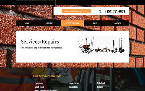 Screenshot of Services Page trarepairshop.com - Services/Repairs - captured Nov. 15, 2017