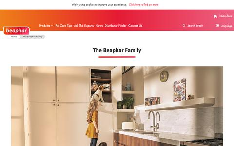 Screenshot of About Page beaphar.com - The Beaphar Family - captured Oct. 5, 2018