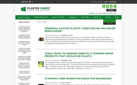 Blog  |  Plastek Cards | Promotional Plastic Card Printing & Manufacturing