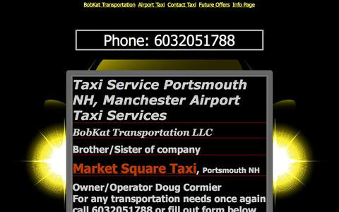 Screenshot of Home Page bobkattransport.com - Taxi Service Portsmouth NH, Manchester Airport Taxi Services - captured Oct. 5, 2014