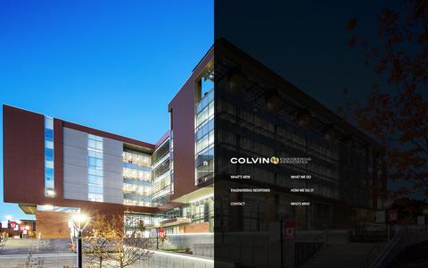 Screenshot of Home Page cea-ut.com - Colvin Engineering - captured Jan. 30, 2016