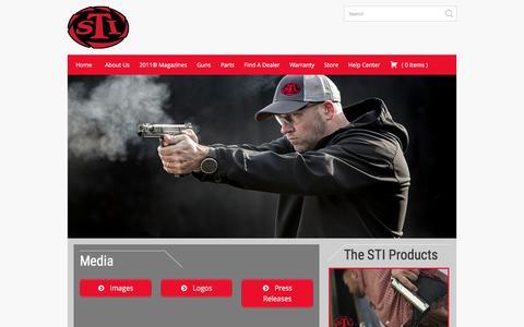 Screenshot of Press Page stiguns.com - Media «  STI Guns - captured Oct. 1, 2017