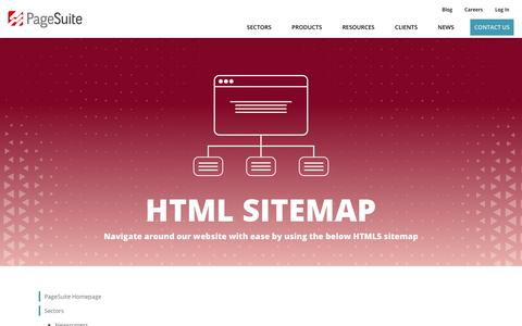 Screenshot of Site Map Page pagesuite.com - HTML Sitemap - PageSuite - captured June 28, 2018