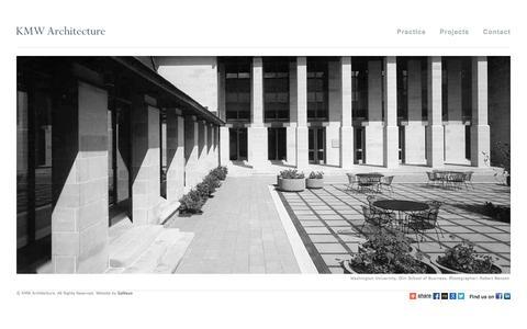 Screenshot of Home Page kmwarch.com - Kallmann McKinnell & Wood Architects - captured Oct. 6, 2014