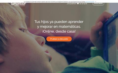 Screenshot of Home Page smartick.es - Smartick: Matem�ticas de primaria para ni�os online - captured Nov. 19, 2015