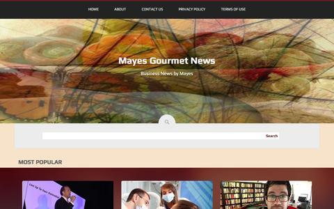 Screenshot of Home Page mayesgourmet.com - Mayes Gourmet News - captured Jan. 9, 2016