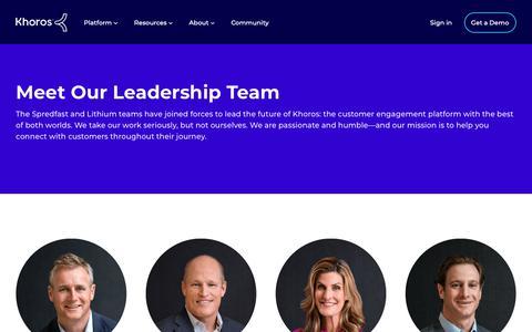 Screenshot of Team Page khoros.com - Khoros Leadership Team | Get to Know Our Executives - captured June 9, 2019