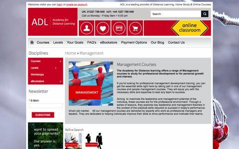 Screenshot of Team Page adlonlinecourses.com - Management Courses - captured Jan. 27, 2016