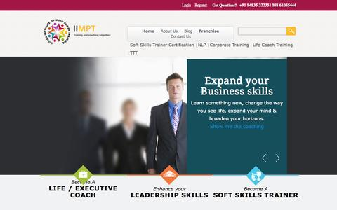 Screenshot of Home Page iimpt.com - IIMPT| Soft Skills Training | Corporate Training | Training in Bangalore - captured Oct. 6, 2014