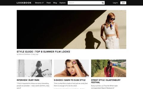 Screenshot of Blog lookbook.nu - BLOG | LOOKBOOK - captured July 17, 2015