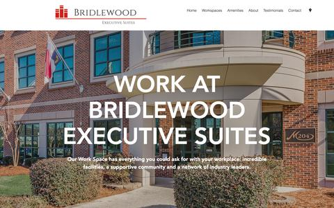Screenshot of Home Page bridlewoodsuites.com - Home   Bridlewood Executive Suites - captured Oct. 6, 2018