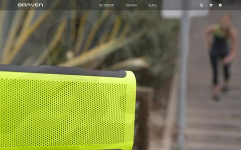 Screenshot of Home Page braven.com - Wireless Bluetooth Speakers | BRAVEN - captured Oct. 23, 2015