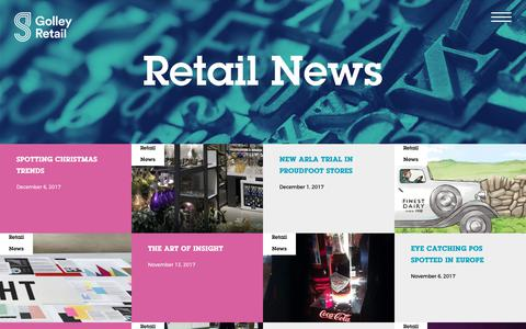 Screenshot of Press Page golleyretail.co.uk - Retail News Archives - Golley Retail | Golley Retail - captured Dec. 11, 2017